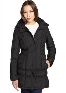 Cole Haan black quilted down filled 3/4 length puffer coat