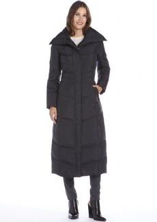 Cole Haan black quilted down filled maxi coat