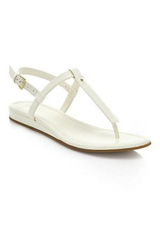 Cole Haan Boardwalk Patent Leather & Leather Thong Sandals