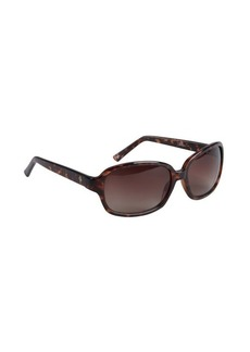 Cole Haan brown tortoise print acrylic square sunglasses