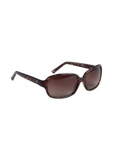 Cole Haan brown tortoise print acrylic square sunglasses