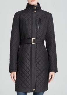 Cole Haan Coat - Diamond Quilted Belted