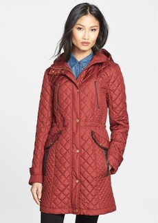 Cole Haan Diamond Quilt Hooded Parka