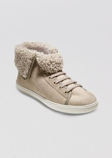 Cole Haan High Top Sneakers - Raven Shearling