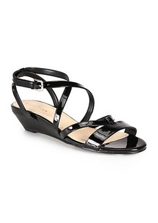 Cole Haan Kierin Strappy Patent Leather Sandals