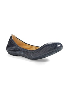 Cole Haan 'Manhattan' Snake Embossed Leather Ballet Flat (Women)