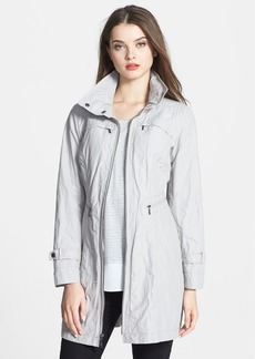 Cole Haan Metallic Packable Raincoat with Stowaway Hood (Petite)