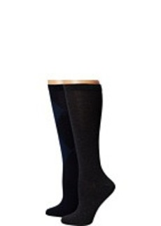 Cole Haan Modern Twill Argyle 2-Pack Knee High