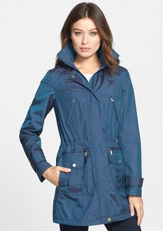 Cole Haan Packable Raincoat with Detachable Hood
