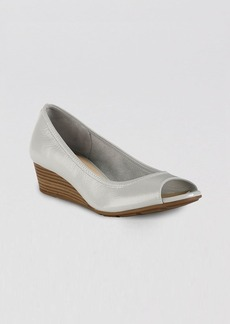 Cole Haan Peep Toe Wedge Pumps - Air Tali