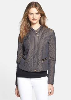 Cole Haan Quilted Moto Jacket