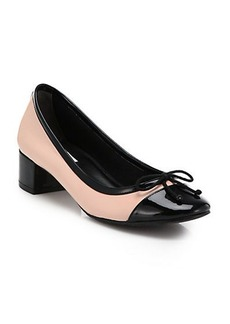 Cole Haan Sarina Leather & Patent Leather Low-Heeled Pumps