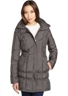 Cole Haan steel quilted down filled 3/4 length puffer coat