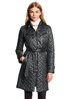 Cole Haan Women's Belted Signature Quilted Down Coat