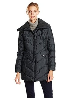 Cole Haan Women's Down Coat with Knit Collar