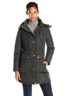 Cole Haan Women's Down Parka with Drawcord Details and Flap Pockets