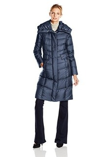 Cole Haan Women's Long Down Coat with Oversized Collar