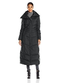 Cole Haan Women's Down Maxi Coat with Oversized Collar