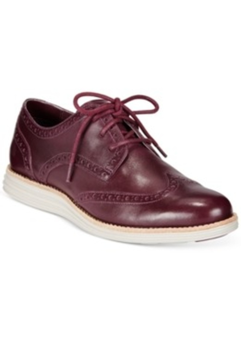 cole haan lunargrand wing tip oxfords s shoes