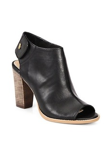 Cole Haan Wrey Leather Open-Toe Ankle Boots