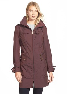 Cole Haan Signature Stand Collar Raincoat