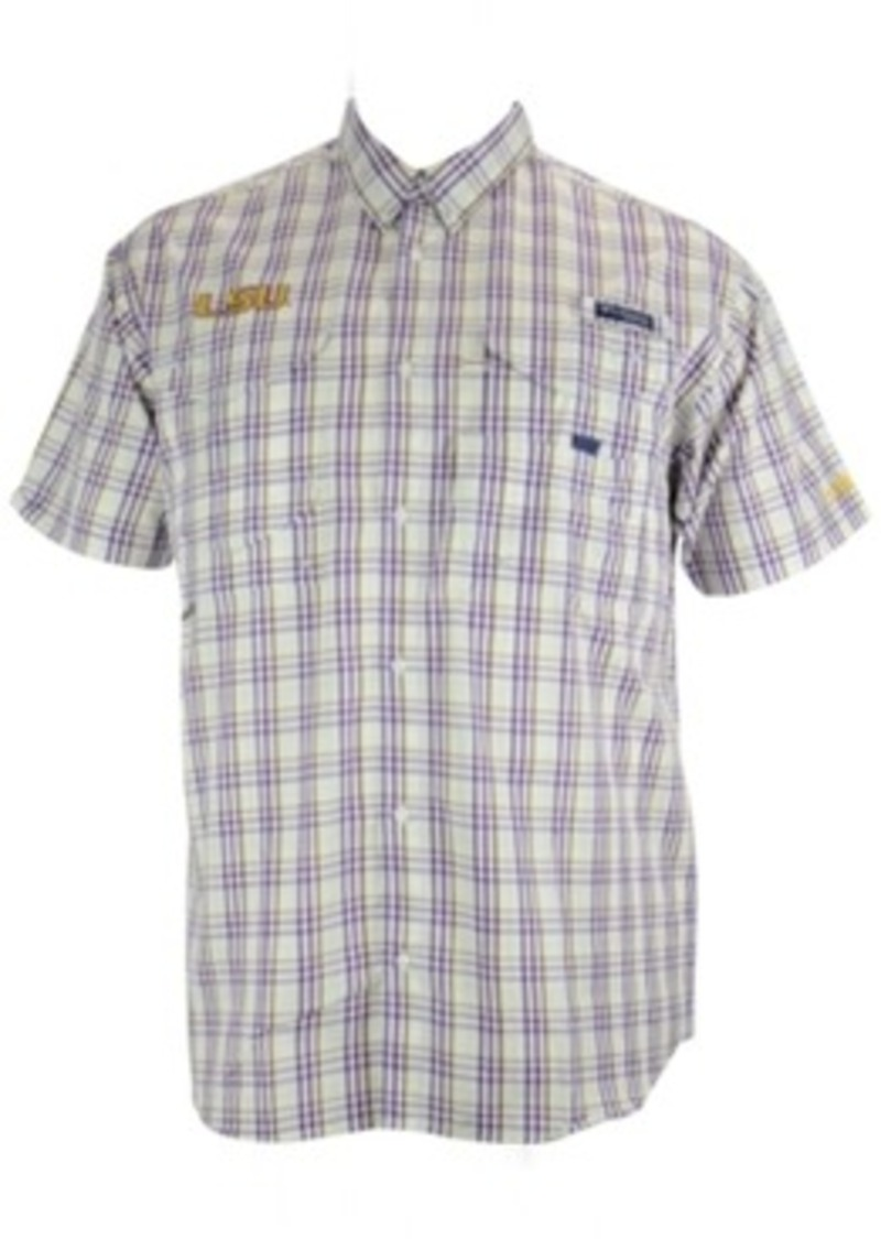 Columbia Columbia Men 39 S Short Sleeve Lsu Tigers Button