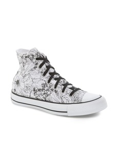 Converse Chuck Taylor® All Star® Floral Outline High Top Sneaker (Women)