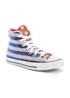 Converse Chuck Taylor® All Star® Sequin Flag High Top Sneaker (Women)