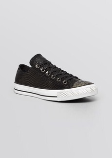 Converse Flat Lace Up Sneakers - Low Top Metallic