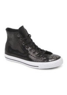 Converse Hi Top Snake Leather Sneakers