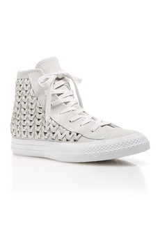 Converse High Top Sneakers - Suede Woven