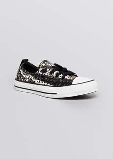 Converse Lace Up Flat Sneakers - Low Top Animal