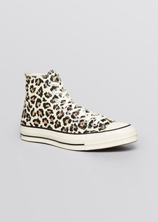 Converse Lace Up High Top Sneakers - Cheetah