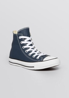 Converse Lace Up High Top Sneakers - Leather