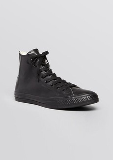 Converse Lace Up High Top Sneakers - Rubber