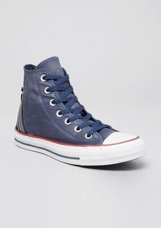 Converse Lace Up High Top Sneakers - Tri Zip