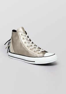 Converse Lace Up High Top Sneakers - Tri Zip Metallic