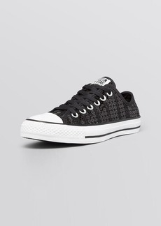 Converse Lace Up Low Top Sneakers - Sequin