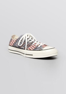 Converse Lace Up Sneakers - Printed Low Top