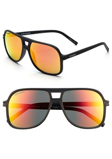 Converse 'Monitor' 58mm Aviator Sunglasses