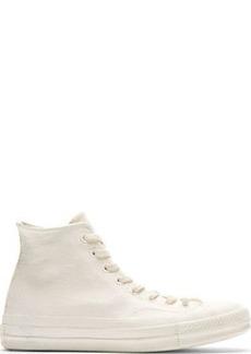 Converse x Maison Martin Margiela White & Orange Painted High-Top Sneakers
