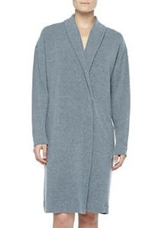 Aosta Fleece Short Robe, Anthracite   Aosta Fleece Short Robe, Anthracite
