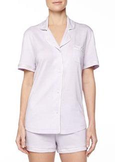 Bella Boxer-Short Jersey Pajama Set, Petal/Ivory   Bella Boxer-Short Jersey Pajama Set, Petal/Ivory