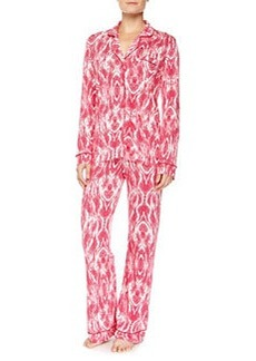 Bella Marquise-Print Long-Sleeve Pajama Set, Bright Grenadine   Bella Marquise-Print Long-Sleeve Pajama Set, Bright Grenadine