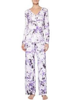 Carrara Marble-Print Pajama Pants, Petal   Carrara Marble-Print Pajama Pants, Petal