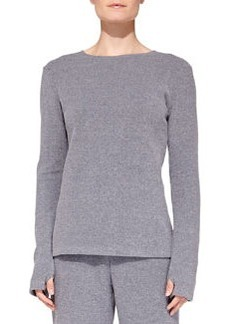 Cosabella Aosta Fleece Lounge Top, Anthracite