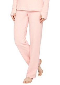 Cosabella Aosta Fleece Straight-Leg Pants, Rosa Sorbetto