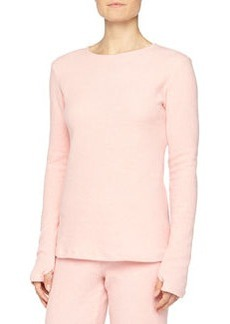 Cosabella Aosta Long-Sleeve Fleece Top, Rosa Sorbetto