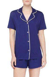 Cosabella Bella Boxer-Short Jersey Pajama Set, Twilight/Pink Lily