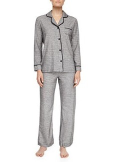 Cosabella Bella Heather Pajamas, Gray/Black
